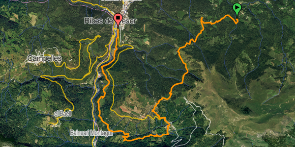 recorregut ruta vall de ribes