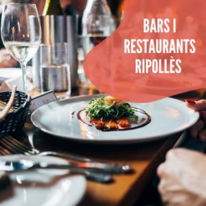cartell de bars i restaurants del ripollès