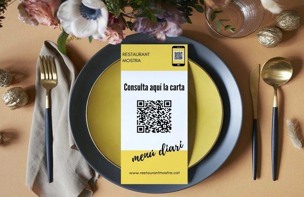 Codi RQ per cartes i menus